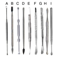 Wholesale 100 Stainless Steel Wax Cleaner Tools Hook Earpick Dabber Tool Cleaning Stylers For Paste Grease Dry Herb Glass Smoking Pipes