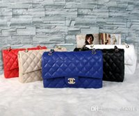 Wholesale atmosphere single - 2018 Fashion Women PU Buckle Chain Brand Shoulder Bag Female OL Business High-End Atmosphere Handbag Brand Package