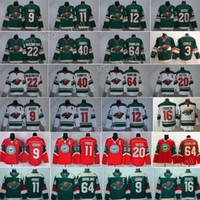 Wholesale green jersey koivu for sale - Group buy Hockey Jerseys Minnesota Wild Mikko Koivu Zach Parise Ryan Suter Mikael Granlund Eric Staal Jason Zucker Nino Niederreiter Green White