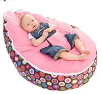 bebek bebek çantası toptan satış-Yeni Moda Bebek Fasulye Torbası Sandalye Bebek Uyku Yatak koşum ile taşınabilir Çok Renkli çocuk kanepe Dolgu dahil değildir
