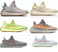 Wholesale designer lights - 2018 Sesame Butter ice yellow 36-48 350 v2 designer shoes Blue tint 350 V2 Sply Black Red BY9612 350 Men Women Running Shoes