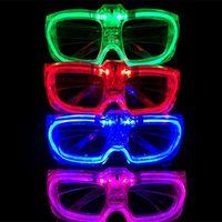 lanternas led mais recentes venda por atacado-Partido Prop Lanterna Óculos de LED Luz Fria Moda Eyewear O Mais Novo Estilo Multi Color Decoração de Natal 1 99mw WW