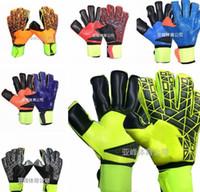 Wholesale top quality gloves - Brand AD Logo Professional Soccer Goalkeeper Gloves New Best quality Finger Ptotection Top Latex football Goalie Gloves for Men 5MM Latex