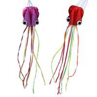 ruedas volantes de juguete al por mayor-4M Large Cartoon Octopus Kite Single Line Stunt / Software Power Niños Cometa al aire libre con 30 m Kite String