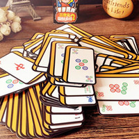 Wholesale Domino Game Toys - Chinese Style Cartoon Mahjong Playing Cards Poker Table Party Family Gather Game Fun Sparrow Card