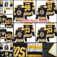 Wholesale Zdeno Chara - 2018 Boston Bruins Hockey Jerseys Men's #33 Zdeno Chara 37 Patrice Bergeron 63 Brad Marchand 88 David Pastrnak stitched Jersey
