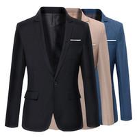 мужской стиль одежды оптовых-Новый стиль мода высокое качество костюмы куртка мужская Slim Fit свадебная куртка Марка Dress мужчины смокинг бизнес повседневная костюм пальто