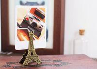 vintage romantische hochzeit dekorationen großhandel-Weinlese-Eiffelturm-Platz-Kartenhalter-romantische Paris-Thema-Hochzeitsfest-Tisch-Dekoration-Bevorzugungen und Geschenke