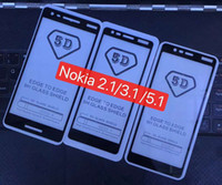 Wholesale screen online - Full Cover D D Tempered Glass Screen Protector AB Glue Edge to Edge FOR NOKIA PLUS PLUS X5 X6