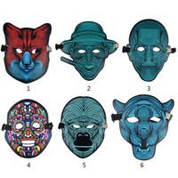 lustige tiergesichtsmaske groihandel-Halloween-lustige volle Gesichts-Tanz-Masken-Sprachled-Steuerparty maskiert Maskerade 3D Tiermasken