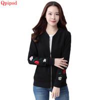 b69b56234ba3 3XL Korean Baseball uniform 2018 Spring Loose Coat Ladies Retro Embroidery Jacket  Casual Coat Autumn Outwear Women Basic Jackets