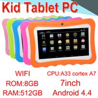 ingrosso schermo esterno q88-Tablet PC 7 pollici A33 Quad Core A7 Allwinner LED Android4.4 Micro-SD 512 MB di RAM 8 GB ROM WIFI Dual Camera WIFI 3G CPB-5