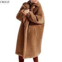 Wholesale Imitation Fur Jackets - Wholesale-LXUNYI Fashion Women Fur coat Imitation lambs wool Winter coat New product Thickening Keep warm Winter jacket High Quality