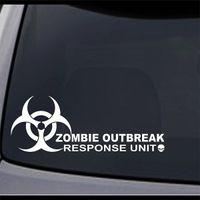 zombie auto abziehbilder großhandel-Car Styling für Zombie Ausbruch Response Team Vinyl Aufkleber Aufkleber 10