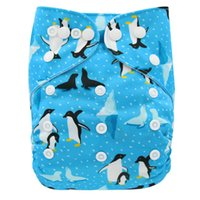 Wholesale pul diapers nappy resale online - Pocket Diaper Animals Printed Suede Cloth Pocket Diaper PUL Washable Baby Nappy Super Comfortable And Breathable