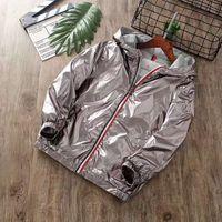 erkek çocuklar için yeni ceketler toptan satış-Yeni Desen Bahar Sonbahar Tasarımcı Marka M Popüler Giysiler Çocuklar Hoodies Ceket Saf Pamuk Açık Rüzgar Geçirmez Fermuar Erkek Ceketler