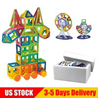 Wholesale educational toys for kids online - Mini Magnetic Building Blocks Pack D Building Toys Educational Construction Building Bricks DIY Set STEM Toys for Kids US STOCK MB002