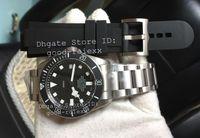 Wholesale Black Titanium Watch - Sapphire ZF Factory V2 Mens Automatic Eta 2824 Titanium Watch Men Chronometer 25500TN Rotor Luminous Self Winding Dive Date AAAAA Watches