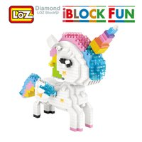 Hot selling LOZ Rainbow Unicorn Diamond Blocks Cartoon And Mytholog Figure Building Diamond Blocks Figure Toy For Age 14+ Offical Authorized