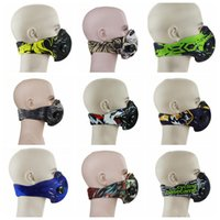 Wholesale bike mask pollution - Cycling Dustproof Mask PM2.5 Activated Carbon Anti-Pollution Masks Men Outdoor Sport Bike Mask Bicycle Protective Half Face Mask OOA5080