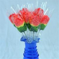 ingrosso giorno artificiale di valentines rose-Home Decorazione di nozze Regali promozionali fiori artificiali fiori artificiali rose singole rose di San Valentino rosa pesca per San Valentino