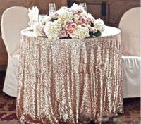 Wholesale round table sizes - Great Gatsby wedding table cloth custom size round and rectangle Add Sparkle with Sequins wedding cake table idea 2017