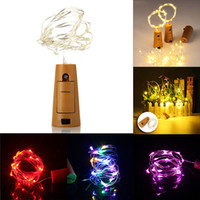 Wholesale holiday lighting online - Copper Wire String Lights M LED LED Cork Shaped Bottle Light Glass LED Wine Bottle Light For Xmas Party Wedding Halloween