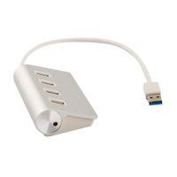 Wholesale 4port usb - 1pcs Portable 4Port Aluminum USB 3.0 Hub Power Adapter for Apple for Mac Air PC Laptop C1