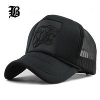 Wholesale Leopard Hats Women - [FLB] 2017 Hip Hop Black leopard Print Curved Baseball Caps Summer Mesh Snapback Hats For Women Men casquette Trucker Cap