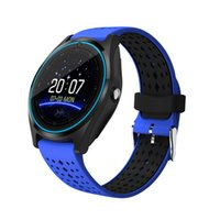 Wholesale mp3 watch phone - Slimy Bluetooth Smart Watch V9 Sport Wristwatch with Camera Support SIM TF Card Health MP3 music Clock for Android 2G Phone Smartwatch