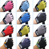 Wholesale brown baseball gloves - Outdoor Sports Non-Slip Gloves Men Women Gym Fitness Weight Lifting Workout Jogging Running Exercise Training Fingerless