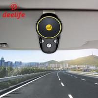 viva-voz bluetooth auto alto-falante venda por atacado-Deelife Bluetooth Carro Kit Mãos-Livres Cancelamento de Ruído de Áudio Sem Fio Auto SpeakerPhone Adaptador Para Celular Clipe Na Pala de Sol