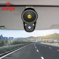 manos libres bluetooth auto altavoz al por mayor-Deelife Bluetooth manos libres para automóvil Kit de audio Cancelación de ruido Inalámbrico Auto Altavoz Adaptador de teléfono para teléfono móvil En la visera