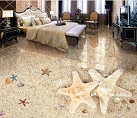 Küche Vinyl-Tapeten Schöne romantische Strand 3D-Boden-Klebstoff-Wandbeläge