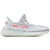 Wholesale Flooring Concrete - SPLY 350 V2 Semi Frozen Yellow Beluga 2.0 Blue Tint Zebra Cream White V2 350 Running Shoes Mens Womens Sneakers