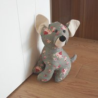 Wholesale Fabric Door Stopper Anti wind Home Decorative Carton Animal Cute Dog Protection for Children Kids Baby