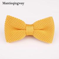 pajaritas de punto para hombre al por mayor-Mantieqingway Moda Knit Bowtie Hombre para Boda Texudo de punto Corbatas de lazo Gravatas Vestidos delgados de punto Bow Tie Bowknots