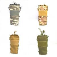 cantina de viagem venda por atacado-Tactical molle bolsa de garrafa de água de nylon militar cantina capa coldre de acampamento ao ar livre caminhadas saco de chaleira de viagem novo padrão 18 ppp dd