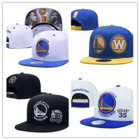 Wholesale ball state cap - Newest Golden State Embroidery Adjustable Hat Embroidered Snapback Caps Black Yellow Blue White Stitched Basketball Hats One Size