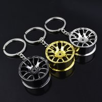 Wholesale car parts for sale - Mini D Auto Hub Parts Shape Keychain Metal Unique Style Shape Keys Buckle Fashion Men Suit Car Key Ring Charms hl Z