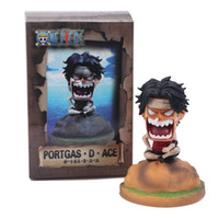 Wholesale bandage decorations resale online - 12cm ONE PIECE Anime Action Figure Mini Angry Bandage Monkey D Luffy Sabo Ace Sitting Ver Model PVC Kids Lovely Decoration Doll