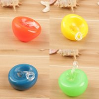 Wholesale transparent water ball online - Inflatable Silicone Balloon Children Toy Candy Color Transparent Bubble Ball Toys Kid Outdoor Play cm C