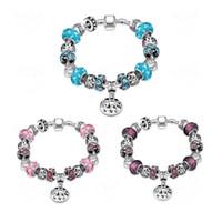 ingrosso ornamenti di cristalli-Perle di cristallo di modo braccialetto europeo e americano fai da te perline gioielli in vetro all'ingrosso ornamenti