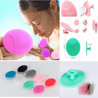 Wholesale deep pore brush - Osculum Type Silicone Oval Facial Cleansing Brushes Blackhead Remover Face Pore Deep Cleaning Brush Baby Head Washing Brush 8 Colors AAA653