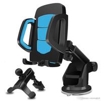 universaltelefonhalter windschutzscheibe großhandel-3 in 1 Universal-Handyhalter Halterung für Auto Windschutzscheibe Air Vent Dashboard 360 Grad-Drehung mit verstellbarem Arm
