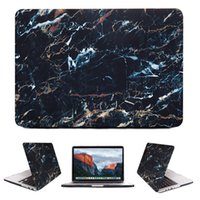 Wholesale Macbook Pro Body - 360 Degree Front Back Full Body Protective Cover Marble Stone Grain Case For Capinhas Macbook Air 13 Pro 13 Retina 11 12 Para
