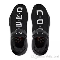 Wholesale N Boxes - Authentic NMD Trail Human Race HU Pharrell NERD Black White Running Shoes Sneakers Y O U N E R D Sports Shoes BB7603 With Original Box