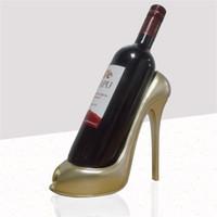 çerçeve rafları toptan satış-Basitleştirilmiş Modernite Yüksek Topuklu Ayakkabılar Kırmızı Şarap Çerçeve Bardian Ev Mobilya Masa Süs Dekorasyon Doğal Reçine Likör Raf 22 9yh Y