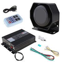 Wholesale loud siren alarm - 12V 200W 18 Tone Loud Car Warning Alarm Police Siren Horn PA Speaker with MIC System & Wireless Remote Control AEP_10H