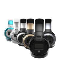 lcds de color iphone al por mayor-ZEALOT B19 Pantalla LCD Bass HiFi Auriculares inalámbricos con Bluetooth para iPhone 7 samung xiaomi auriculares con radio FM Ranura Micro-SD